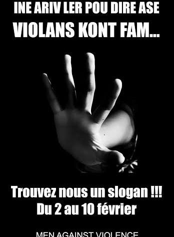 TROUVEZ NOUS UN SLOGAN !!! Men Against Violence (MAV) fait appel à votre créativité : Utilisez le pouvoir des mots pour changer des maux de notre société Vous condamnez la […]